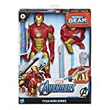 Avengers Marvel Titan Hero Series Blast Gear Iron Man Action Figure, 12-Inch Toy, with Launcher, 2 Accessories and Projectile, Ages 4 and Up