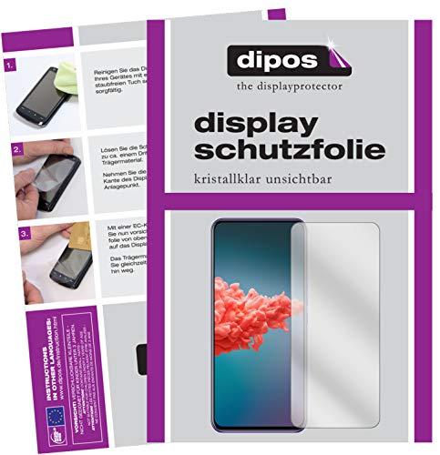 dipos I 6X Schutzfolie klar kompatibel mit ZTE Axon 20 5G Folie Bildschirmschutzfolie (3X Vorderseite + 3X Rückseite)