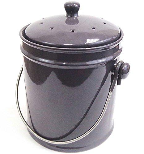 Natural Home 40629 Charcoal Ceramic Compost Bin