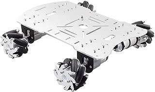 Moebius Metal Mecanum Omni Wheel Robot Car Kit with 4pcs DC 12V Speed Encoder Motor, 4WD Robot Platform Chassis Maximum Load 15KG for Arduino/ Raspberry Pi DIY STEM Educational Competition