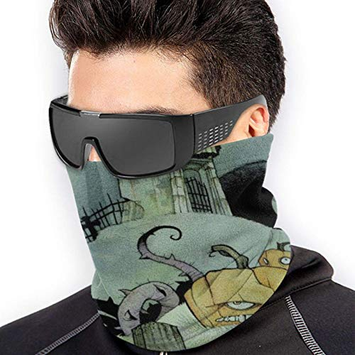 Máscara abstracta de Halloween con estampado sin costuras, polaina para el cuello, máscara de pesca, bufanda mágica, máscara de tubo, máscara de bandana facial