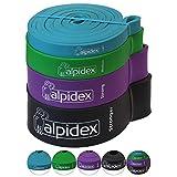 ALPIDEX Pull-Up Fitnessbänder Klimmzugbänder Widerstandsbänder für Muskelaufbau Crossfit...