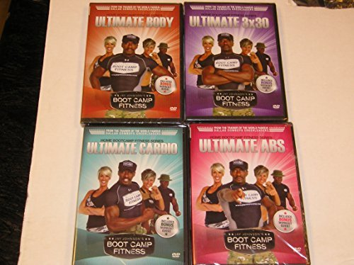 Jay Johnson's Boot Camp Fitness Workout Video Set of Four (4)