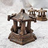 VJRQM resina rocalla pecera paisaje acuario decoración cerámica pabellón hexagonal ornamento paisaje acuático