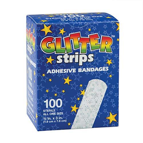 Glitter Strips Bandages - 100 per Pack