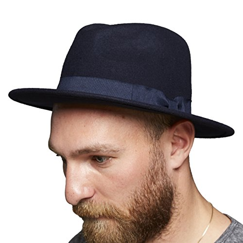 SUIT Grand-Q7031 Fedora, Blau (Navy Blue 3090), Taille Unique Homme