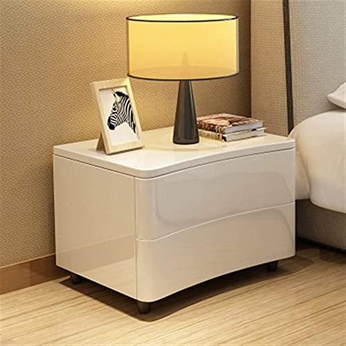 ZXLRH Europeo Simple Blanco Moderno de Noche Mesilla de Noche Gabinete Dormitorio Paint Gabinete Dormitorio Gabinete sólido Simple de Madera Pierna pequeño Armario nórdica Gabinete de Almacen