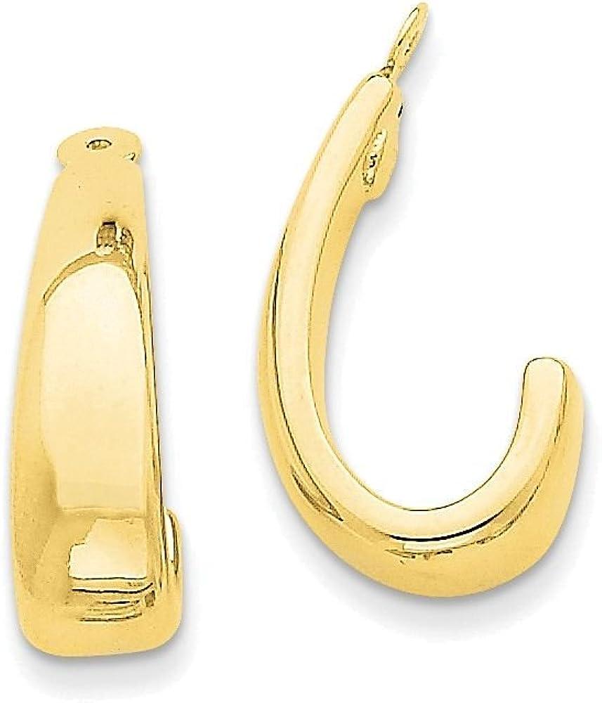 Finejewelers 14k Yellow Gold J Hoop Earring Jackets