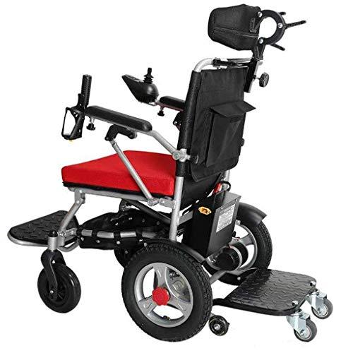 SED Leichte Trolley-Hilfsrollstühle Klappbarer Elektrischer Rollstuhl, Langlebig, Sicher Und Fahrbar, Al-Mobilitätshilfe-Gehhilfe-Servicewagen,Gold