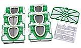 Juego ahorro de 6 bolsas de aspiradora de microfieltro predobladas en caja, 1...