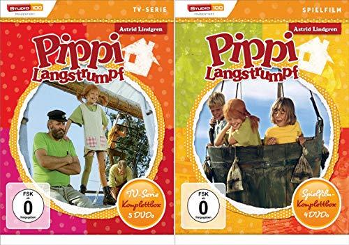 Pippi Langstrumpf - TV-Serie + Spielfilm - Komplettboxen * DVD Box Set