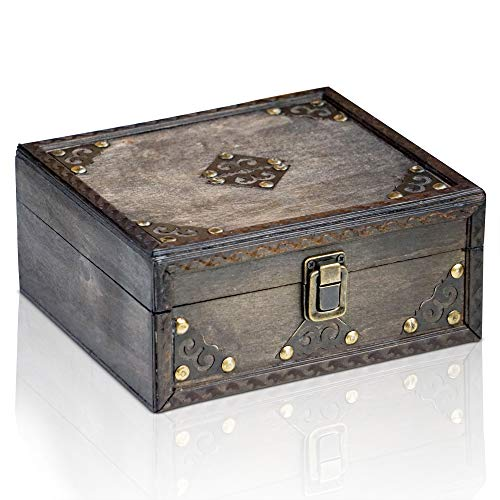 Brynnberg Caja de Madera Monk 20x18x9cm - Cofre del Tesoro