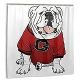 Casy Teey UGA Bulldog Boutique Shower Curtain Hooks Polyester Home Decor 72x72inch