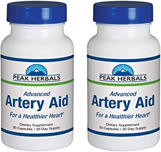 Advanced Artery Aid Supplement for Heart Health Support, addresses Poor Circulation and Targets clogged Arteries Throughout The Body. Helps Remove toxins and Supports Clean and Supple Arteries. (2)
