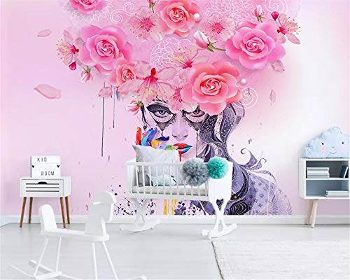 Mural Wallpaper Photo Home Custom Large 3D Wallpaper Modern Graffiti Floral Colorful Sexy Beauty Oil Painting Background Wall Wallpaper 3D tapeta