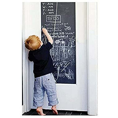 EachWell DIY Vinyl Chalkboard Removable Blackboard Wall Sticker Decal 18 x 79   with 5 Free Chalks for Home Office