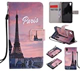 Qiaogle Téléphone Coque - PU Cuir Rabat Wallet Housse Case pour Sony Xperia X Performance/X...