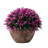 LAAT, erba artificiale, fiori, pianta finta, in plastica, vaso decorativo da tavolo per ma...