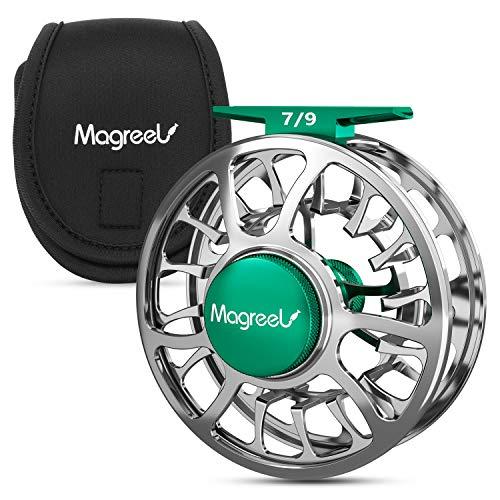 Magreel Carrete de Pesca con Mosca con Cuerpo de Aleación de Aluminio Mecanizado CNC, 3/4, 5/6, 7/9 Pesos