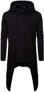 Mens Hoodie Lightweight Hooded Sweatshirt Casual Hip Hop Long Length Cloak Pullover Sweatshirt