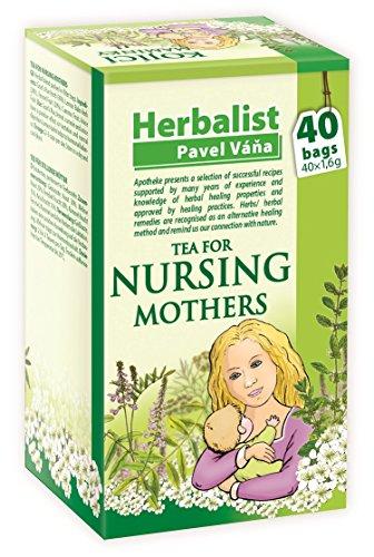 Té para madres lactantes, té de hierbas en bolsa de filtro, 40 bolsas de té de 1,6 g. Esta mezcla de hierbas es adecuada para las madres lactantes. Soporta la función de las glándulas lácteas. También tiene un efecto positivo en la digestión y calma ...