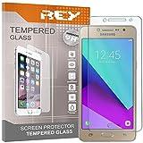 REY 3X Protector de Pantalla para Samsung Galaxy J2 Prime, Cristal Vidrio Templado Premium
