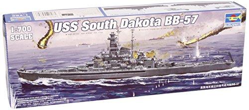 Trumpeter 1:700 -Modellino Nave da Guerra USS South Dakota BB-57 (TRU05760)