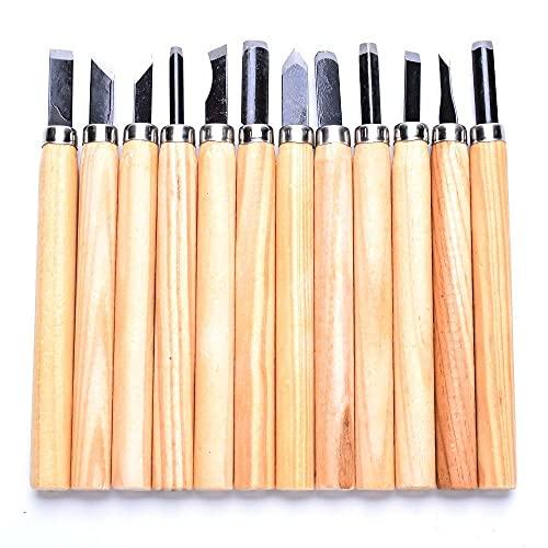 8/12 Uds.Cuchillo de cinceles de talla de madera profesional para herramientas básicas de bricolaje de corte de madera y herramientas manuales de carpintería detalladas, 8 Uds.