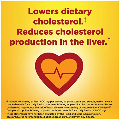 Nature Made CholestOff Complete Softgels, 120 Count for Heart Health