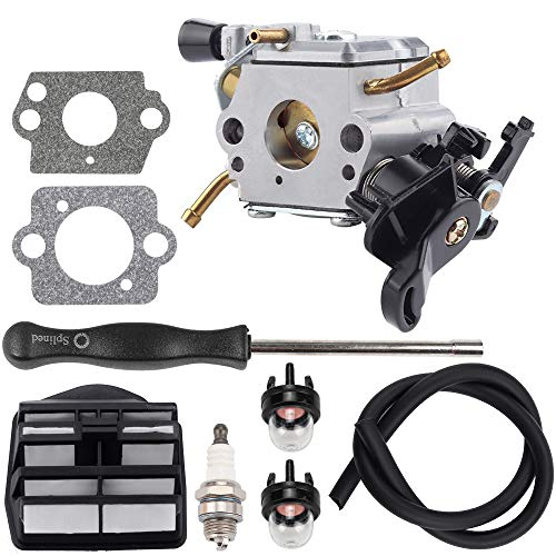 Dalom C1M-EL37B Carburetor with 544 08 08 02 Air Filter Adjustment Tool Tune Up Kit for Husky 445 445E 450 450E R18 Jonsered 2245 2250 Gas Chainsaw 506450401 Carb