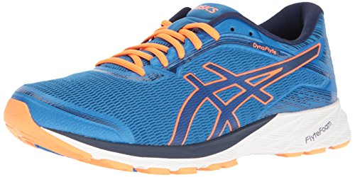 ASICS Asics Dynaflyte eléctrico/Azul/Indigo/Azul/Caliente/Naranja del Zapato Corriente 8 de EE.UU. Hombre Azul...