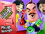 Hello Neighbor Nightmare Doors Of Death! Alpha 4 Double Jump Mini Game With Red...