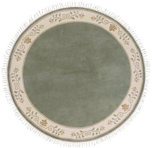 Sona-Lux Nepal Teppich handgeknüpft grün Größe auswählen rund 150 cm