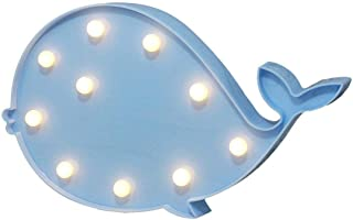 Cute Blue Whale Shape LED Night Light Table Lamp 3D Marquee Sign Nightlight Home Decoration,Holiday Gift for Children