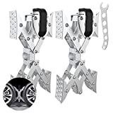 Sulythw X-Shaped RV Wheel Chock Stabilizer Scissor for Camper Travel Trailers Tire Chalks with Standard Wrench-1 Pair