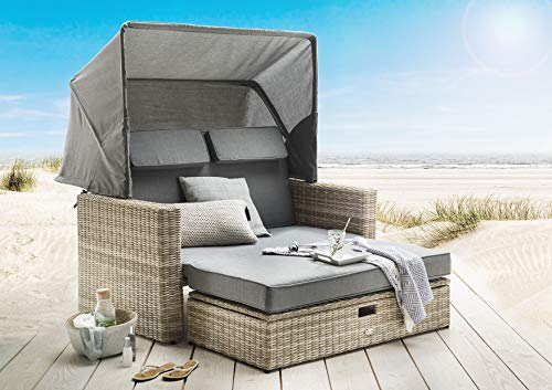 Destiny Multifunktionslounge Ferrara Lounge Loungeinsel Loungeliege Sofaset Vario Sofainsel Strandkorb