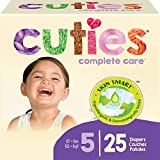 Cuties Complete Care Baby Diapers, Size 5, 25 Count