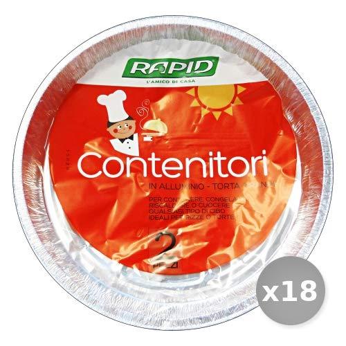 Set 18 MISTER PACK Contenitore Alluminio Torte x 3 Pezzi T59g Contenitori per la Cucina