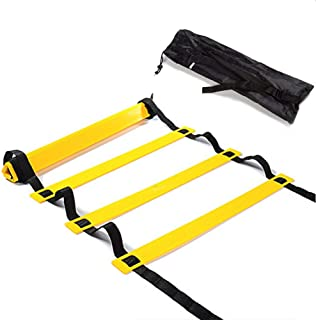 Agility Ladder Adjustable Agility Ladder Speed Training Equipment 12 Rung with Carrying Bag Ideal for Football, Drills, Coordination and Athletic Skills Exercise