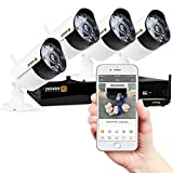Defender Wireless HD 1080p 4 Channel 1TB DVR Security Surveillance System with Smart Adaptive Wireless Technology and 4 Long Range Night Vision High Definition Bullet Cameras