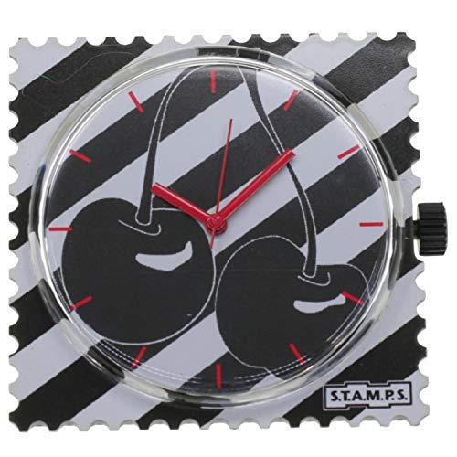 Stamps 1111087 Reloj Analógico Unisex Caja De Plástico Esfera Color Negro