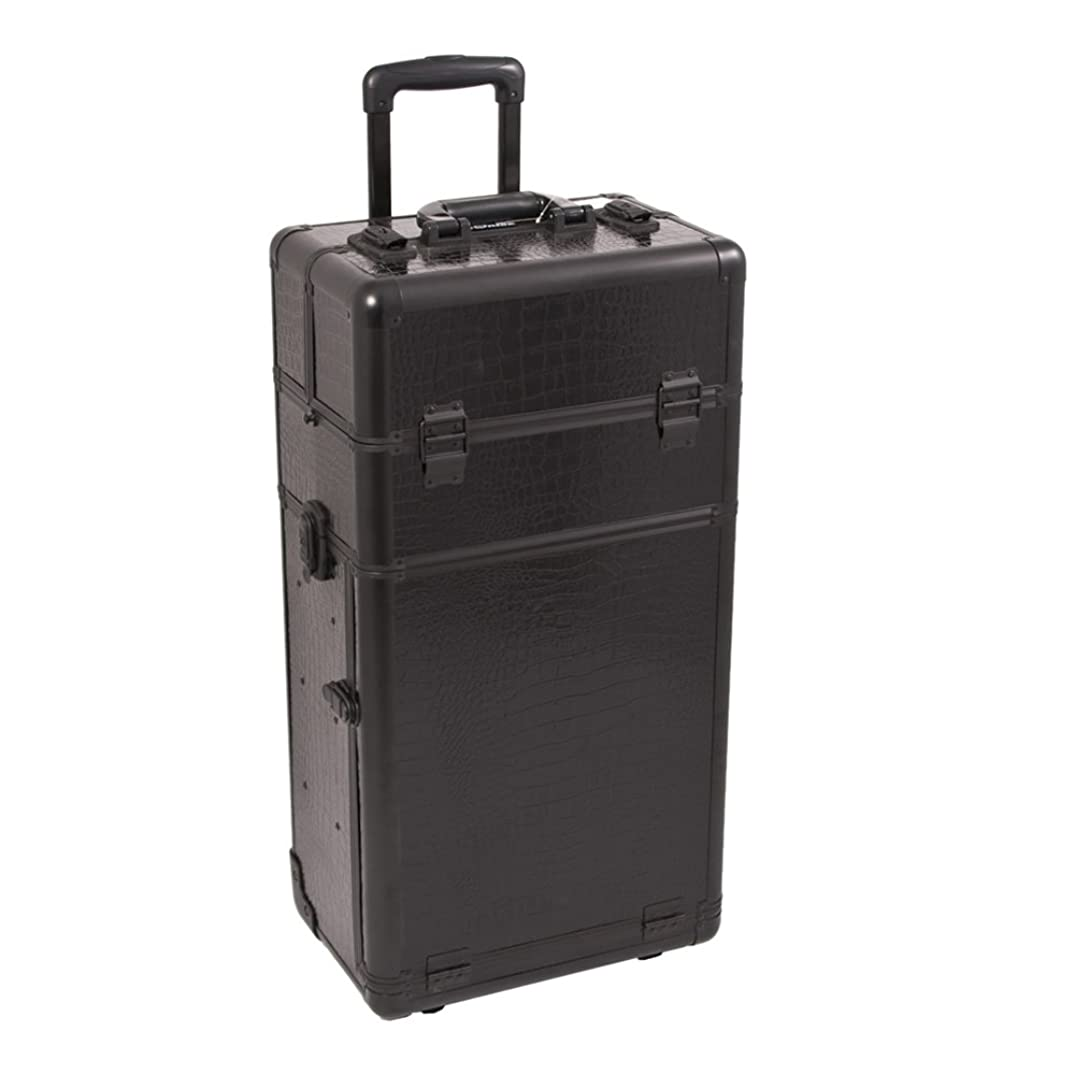 Craft Accents I3463 Croc Trolley Craft/Quilting Storage Case, Black