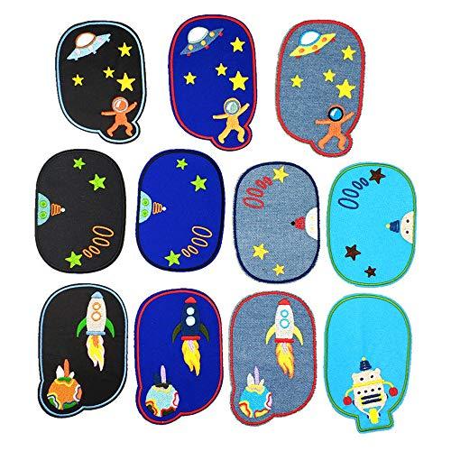 GloBal Mai Flicken zum aufbügeln Kinder,ovaler bügelflicken Jeans- Applikation für Aufnähen und Bügeln. (Multicolor)