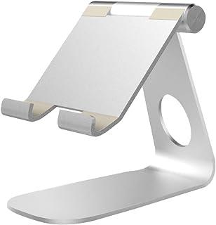 SOLUSTRE Suporte ajustável para tablet, suporte de mesa de alumínio para Kindle, leitor E, outros tablets Android (prata)