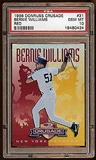 Psa 10 Bernie Williams 1998 Donruss Crusade Red /25 Pop 1 Of 1 Psa 10 Yankees - Slabbed Baseball Cards