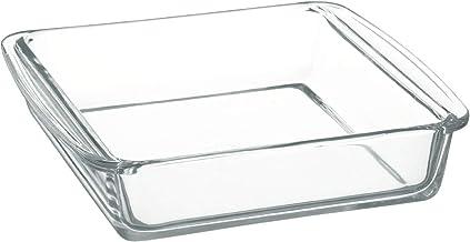 iwaki ケーキ焼き皿 持ち手付き 耐熱ガラス 2L 角型 オーブンウェア グラタン皿 レンジ・オーブン可 SKT222