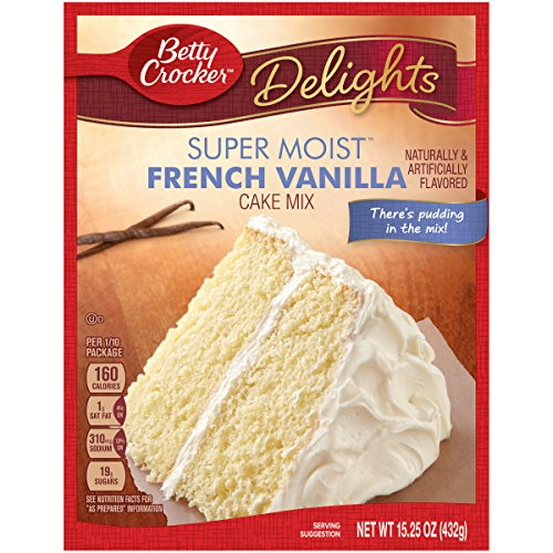 Betty Crocker Super Moist Cake Mix, French Vanilla, 15.25 oz