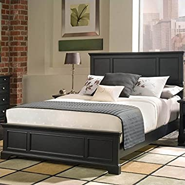 Home Styles 5531-500 Bedford Queen Bed, Black Ebony Finish