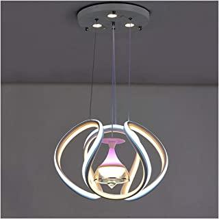 Modern Chandelier Circular LED Dimmable 170W with 1 Lamp Holder Chandelier LED Acrylic Pendant Chandeliers Lighting Contem...