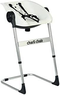 CharliChair 2-in-1 Baby Shower Chair - black / silver